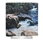 Betws-y-coed Waterfall Shower Curtain