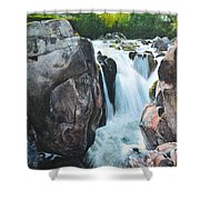 Betws-y-coed Waterfall In North Wales Shower Curtain