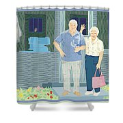 Bev And Jack Shower Curtain