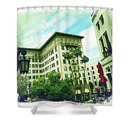 Beverly Hills Rodeo Drive 3 Shower Curtain