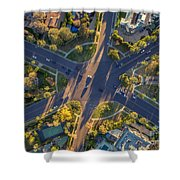 Beverly Hills Streets, Aerial View Shower Curtain