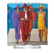 Bevy Of Beauties Shower Curtain