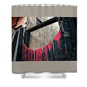 Beware All Who Enter Here - Halloween Gate Shower Curtain
