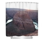 Bend At The River Shower Curtain