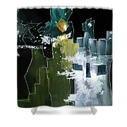 Beyond Horizons Shower Curtain by Anil Nene