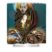 Beyond Masks Shower Curtain