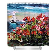 Beyond Sea Roses Shower Curtain