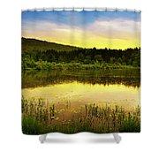 Beyond Sunset Landscape Shower Curtain