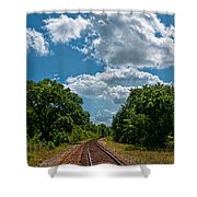 Beyond The Bend Shower Curtain