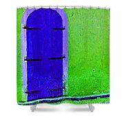 Beyond The Blue Door Shower Curtain