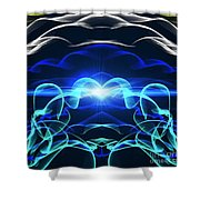 Beyond The Dark Clouds And Storms Shower Curtain