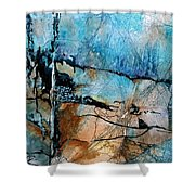 Beyond The Forest Line Shower Curtain