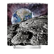 Beyond The Moon Shower Curtain