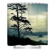 Beyond The Overlook Tree Shower Curtain