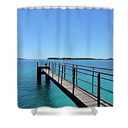 Beyond The Pier Shower Curtain