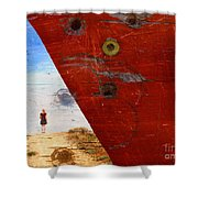 Beyond The Sky Shower Curtain