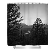 Beyond The Trees Bw Shower Curtain