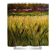 Beyond The Valley Shower Curtain by Shannon Grissom