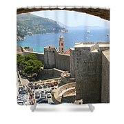 Beyond The Walls Of Old Dubrovnik Shower Curtain