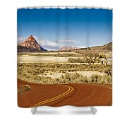 Beyond Zion Shower Curtain