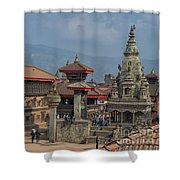Bhaktapur Durbar Square In Kathmandu Valley, Nepal Shower Curtain