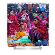 Bhaktapur Holi Market Shower Curtain