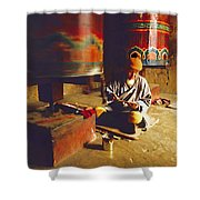 Bhutan Pilgrim Shower Curtain