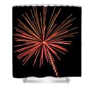 Bi-color Fireworks 2 Shower Curtain