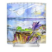 Biarritz 09 Shower Curtain
