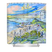 Biarritz 26 Shower Curtain