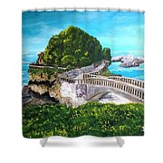 Biarritz Bridge Shower Curtain