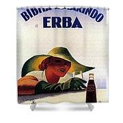 Bibita Tamarindo - Erba - Vintage Drink Advertising Poster Shower Curtain