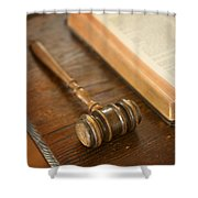 Bible And Gavel Shower Curtain