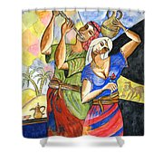 Biblical Story Shower Curtain