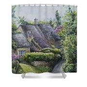Bibury Village Shower Curtain