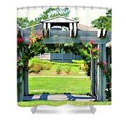 Bicentennial Rose Garden Shower Curtain