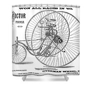 Bicycle, 1884 Shower Curtain