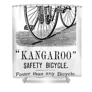 Bicycle Ad, 1885 Shower Curtain