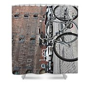 Bicycle And Building Shower Curtain