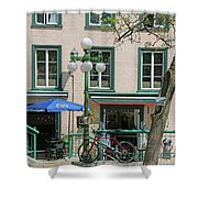 Bicycle And Lamppost 6417 Shower Curtain