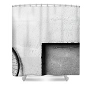 Bicycle And Rectangle Shower Curtain
