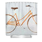 Bicycle Blues Shower Curtain