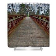 Bicycle Bridge - Niagara On The Lake Shower Curtain