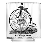 Bicycle Camera Ad, 1887 Shower Curtain by Granger