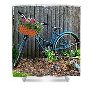 Bicycle Garden Shower Curtain