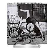 Bicycle Gymnastics 4 Shower Curtain