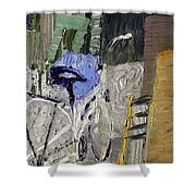 Bicycle In The Cellar Shower Curtain