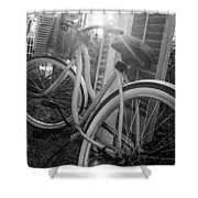 Bicycle In The Sun Shower Curtain