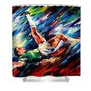 Bicycle Kick Shower Curtain