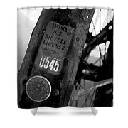 Bicycle License Shower Curtain